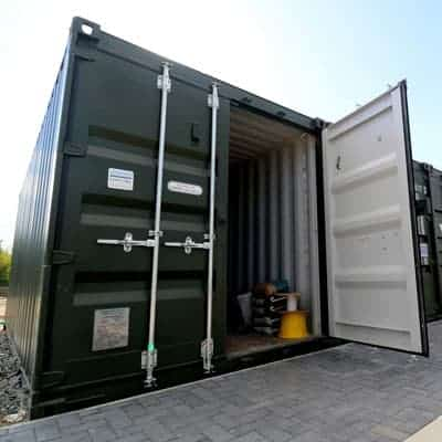 24 hour shipping container storage